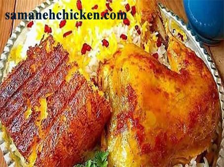 غذای خوشمزه زرشک پلو با مرغ